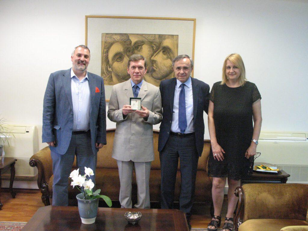 Прием профессора Ефременка В.Г. ректором Яннинского университета (Греция), 2015 г.